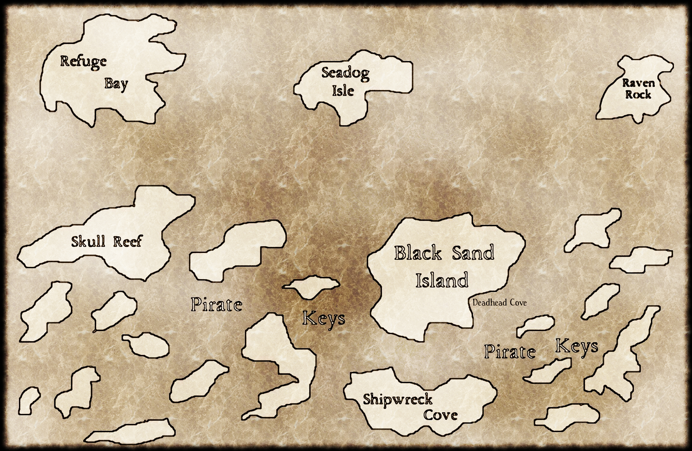 Pirate Keys Map